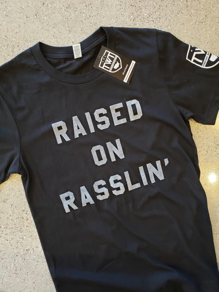Raised on Rasslin' Tee - Black