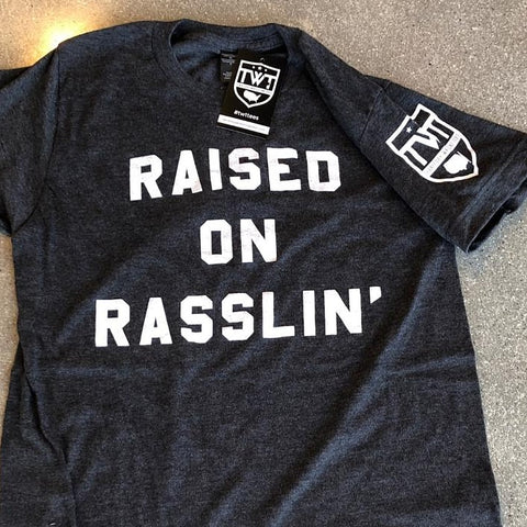 Raised on Rasslin' Tee - Charcoal