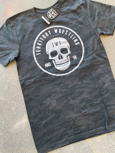 TWT Skull Badge Tee - Black Camo
