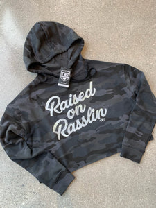 Raised on Rasslin Retro Crop Hoodie