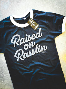 Raised on Rasslin' Retro Ringer Tee
