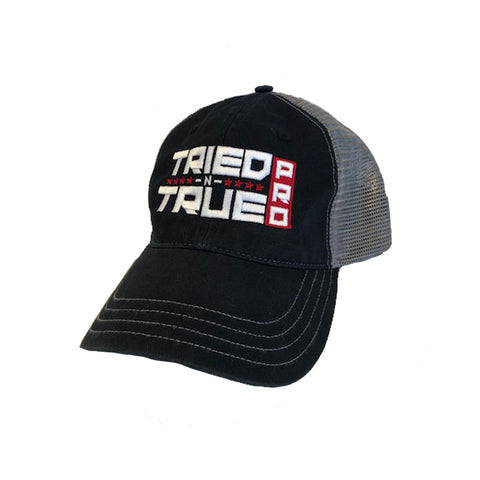 TNT Pro Unstructured Logo Trucker Hat - Black/Charcoal