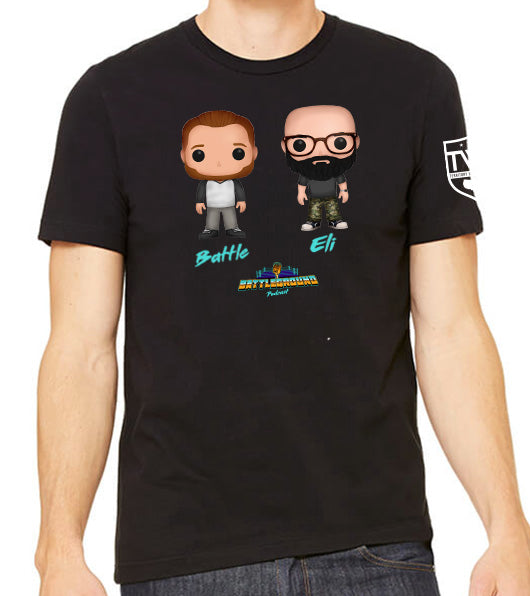Battleground Podcast Vinyl Figs Tee