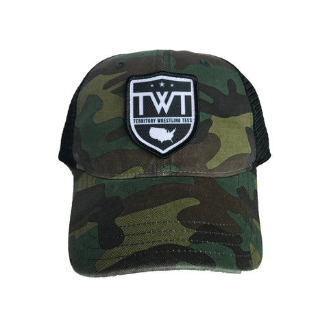 TWT Unstructured Trucker Hat - Camo/Black