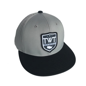 TWT R-Flex Fitted Hat - Grey/Black