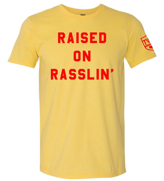 Raised on Rasslin' Tee - Yellow