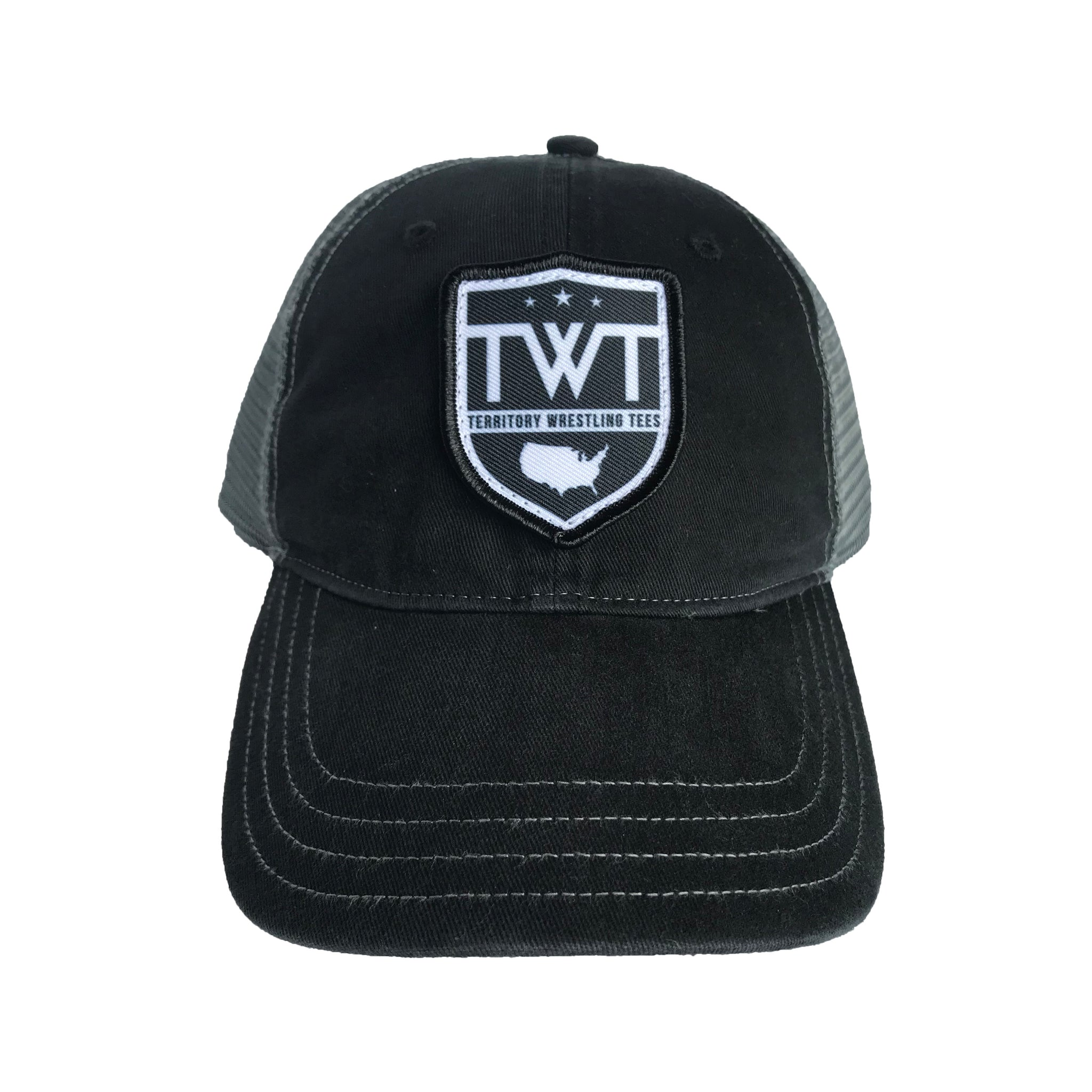 TWT Unstructured Trucker Hat - Black/Charcoal