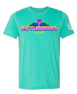 Battleground Podcast NEON Logo Tee