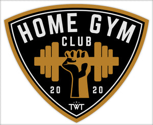 TWT Home Gym Club Sticker