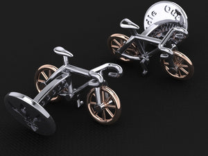 Roadie Cufflinks – with Rose Gold Wheels
