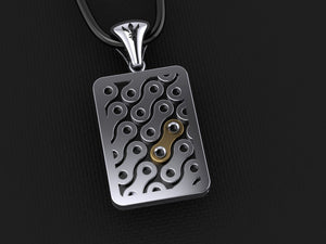 Chain Link Pendant – with Yellow Gold Link