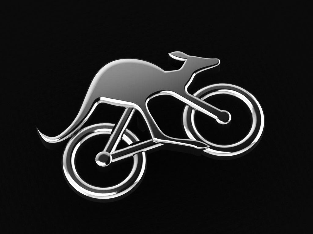 Cycling Skippy Lapel Pin-Sterling Silver