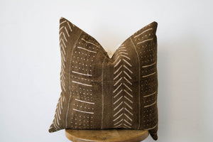Mud Cloth Pillow Cover Brown