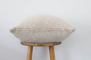 Woven Pom Pom Pillow in Natural