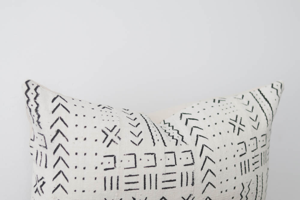 Mud Cloth Lumbar Pillow Cover