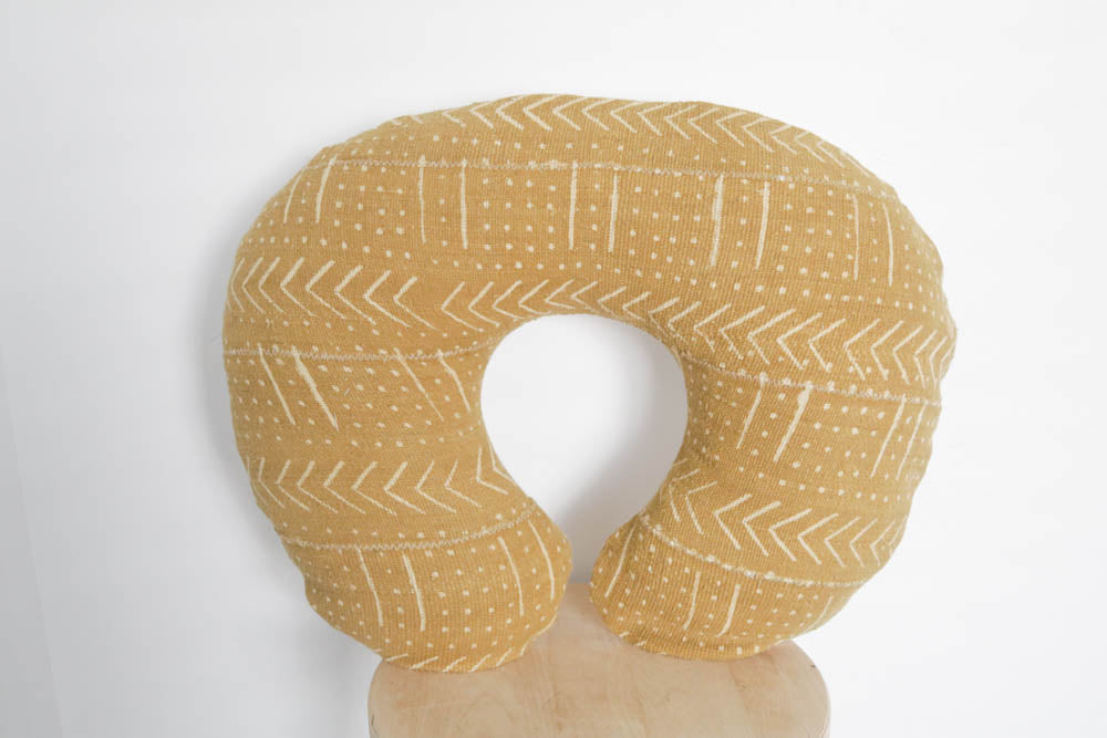 Mud Cloth Nursing Pillow Cover Yellow