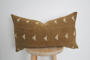 Mud Cloth Lumbar Pillow Cover Brown