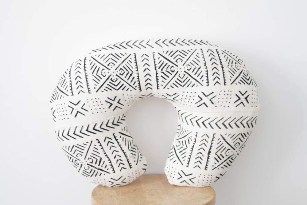 African Mudcloth Nursing Pillow Cover