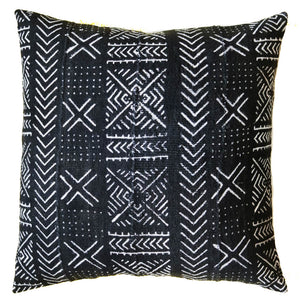 Mud Cloth Pillow Cover Black