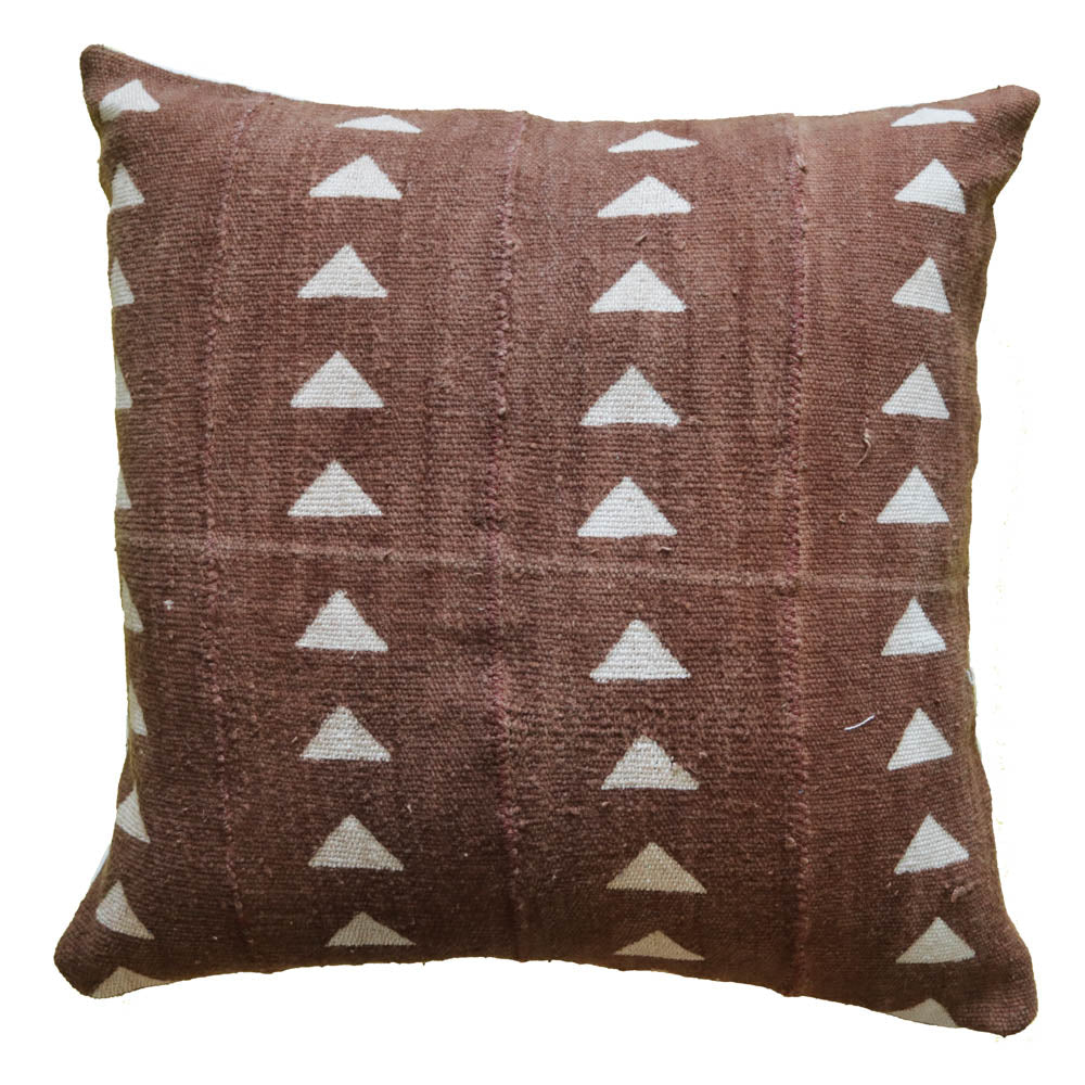 Mud Cloth Pillow Cover Rust