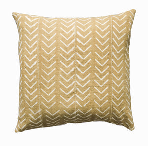 Mud Cloth Pillow Cover Yellow