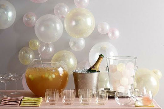 Bubbly Bar balloons on the wall