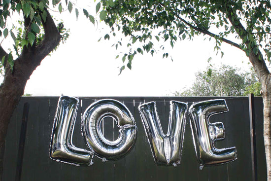 Love balloons hanging, Lively & Co
