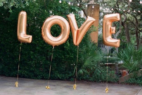 Love Helium balloons, Lively & Co