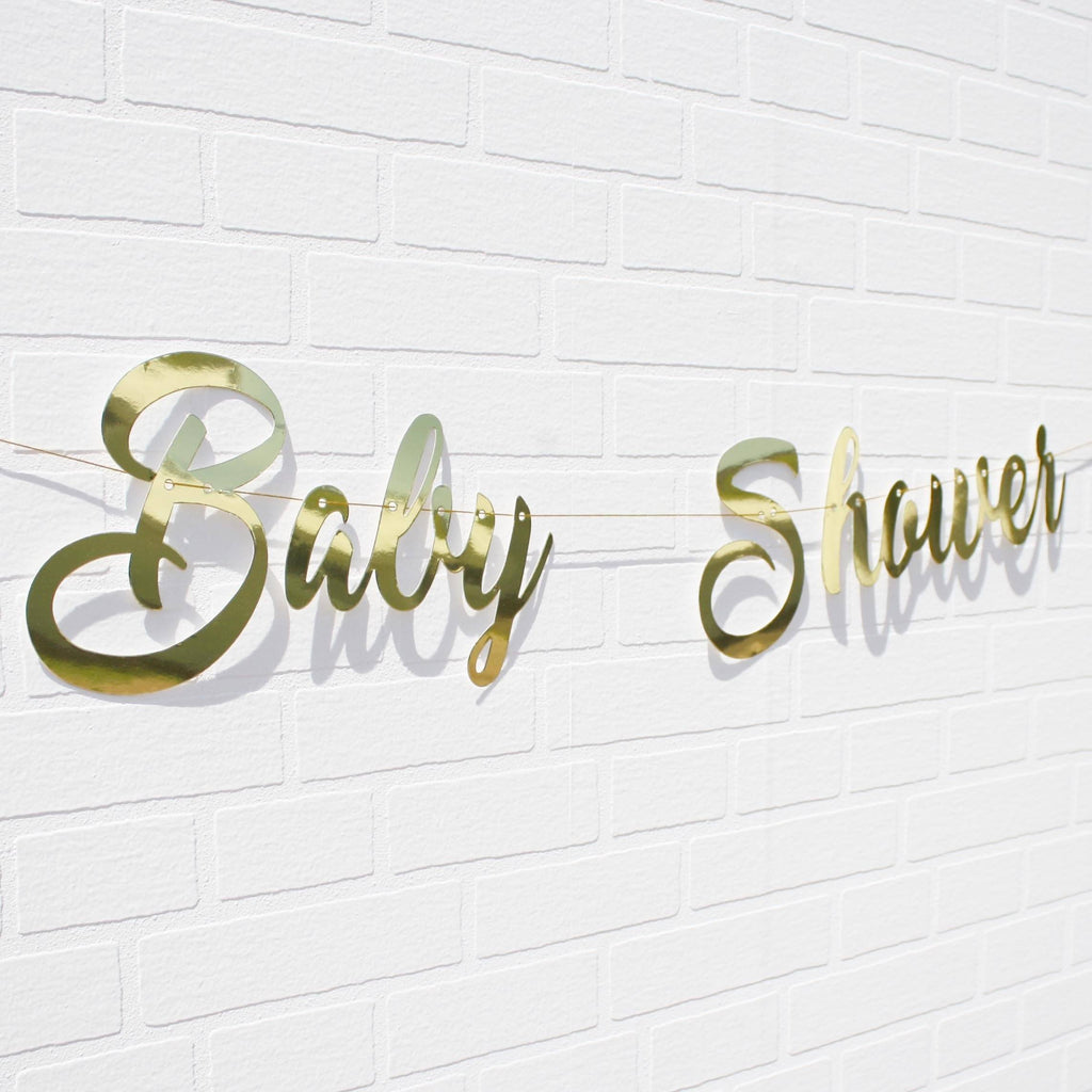 Baby Shower Gold Banner