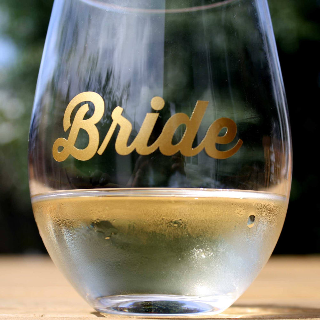 Gold Bride Sticker for Hens Parties or Weddings