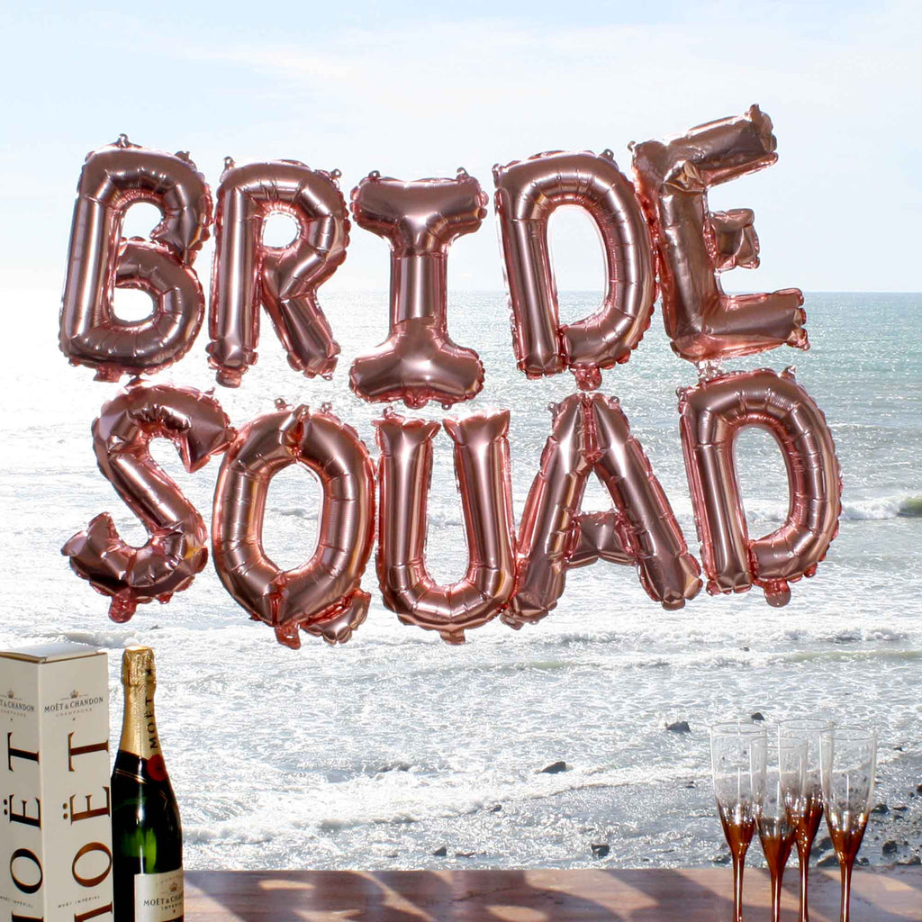 Rose Gold Balloon Pack Bride Squad
