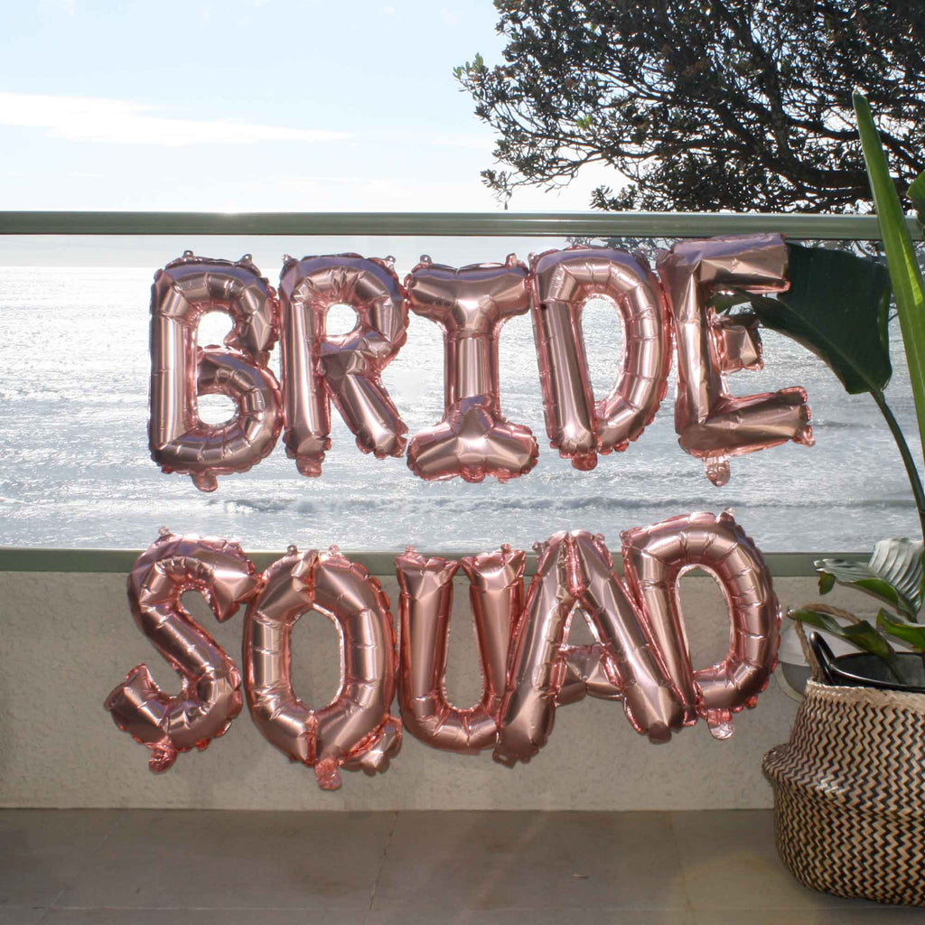 Bride Squad Rose Gold Balloons