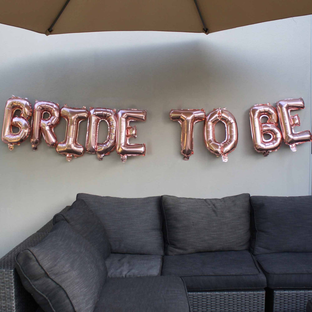 Bride To be Rose Gold Balloon set for bridal shower