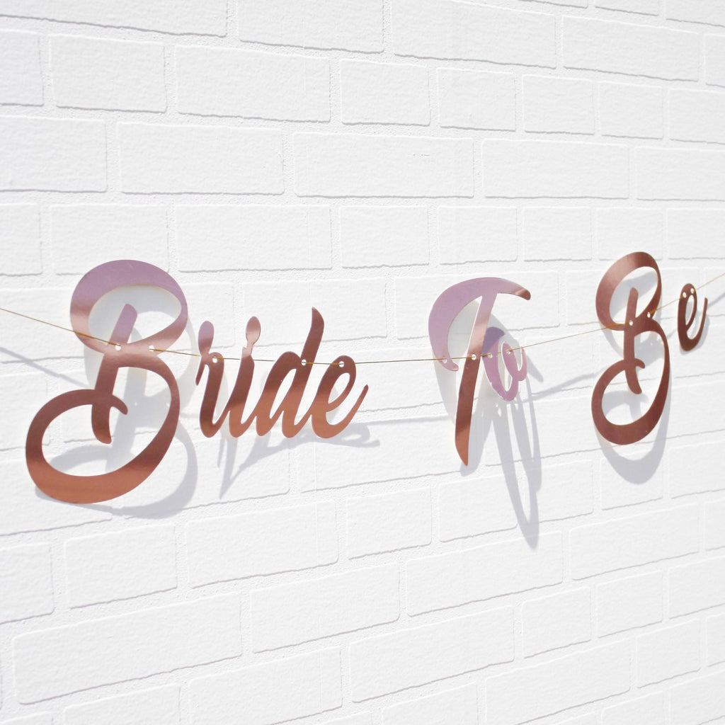 Lively & Co Bride To Be Rose Gold Banner