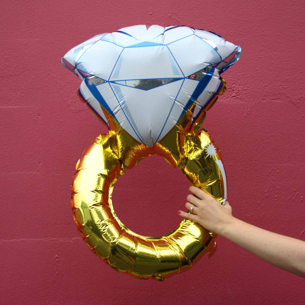 Blow up big diamond ring balloon, Engagement party