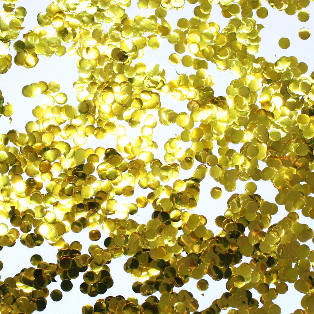 Gold Circle Confetti Pieces