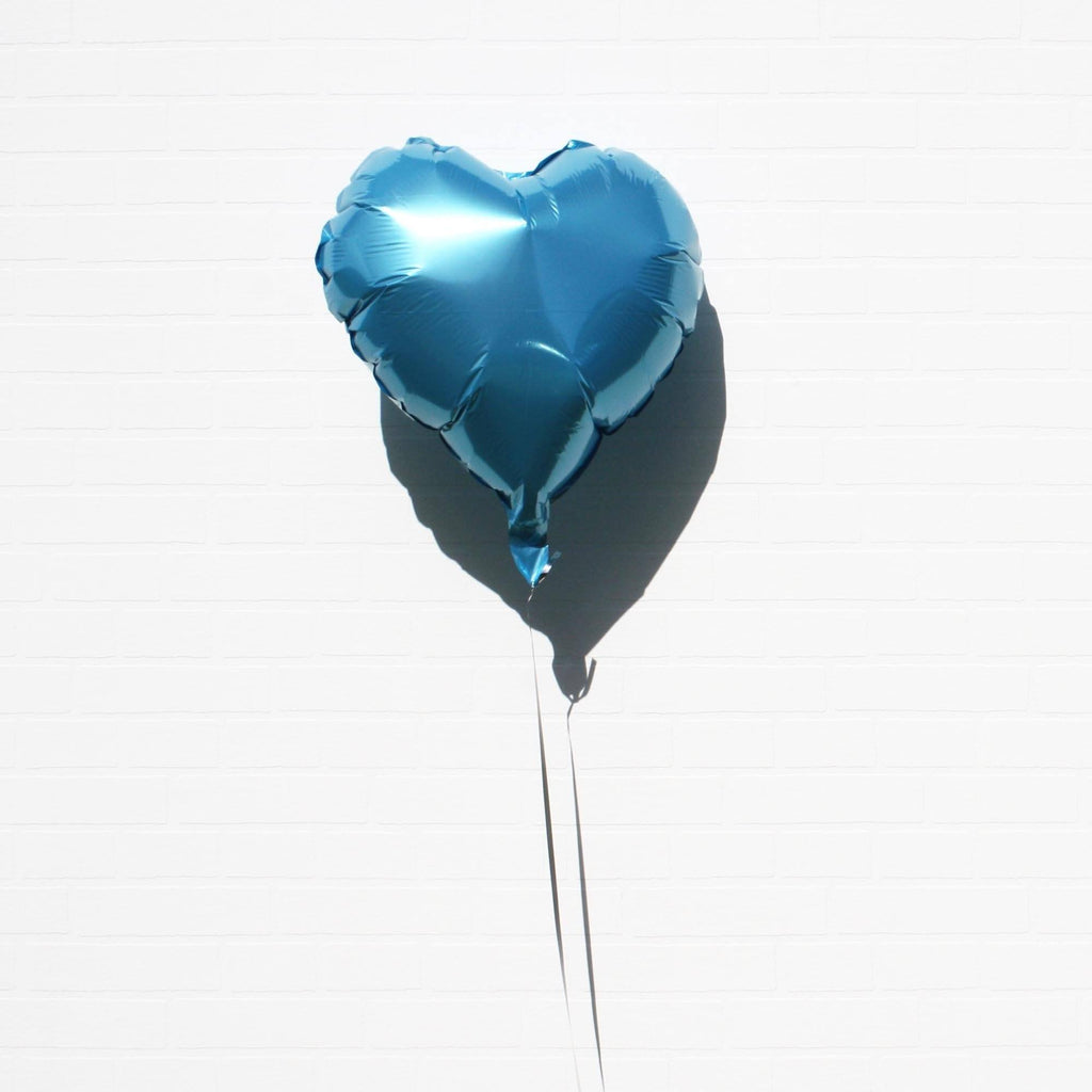 Baby Blue Foil Heart Balloon from Lively & Co Party Supplies