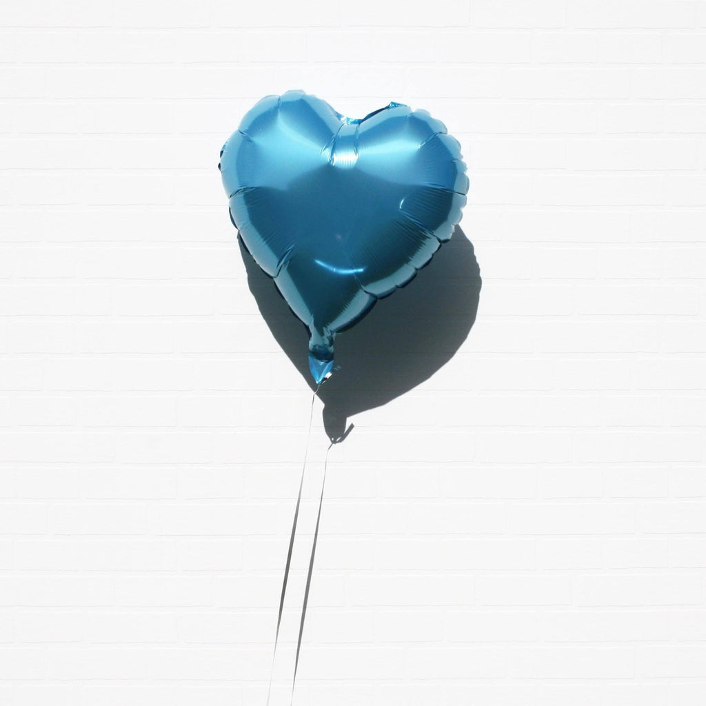 Blue Foil Heart Balloon from Lively & Co Party Supplies NZ