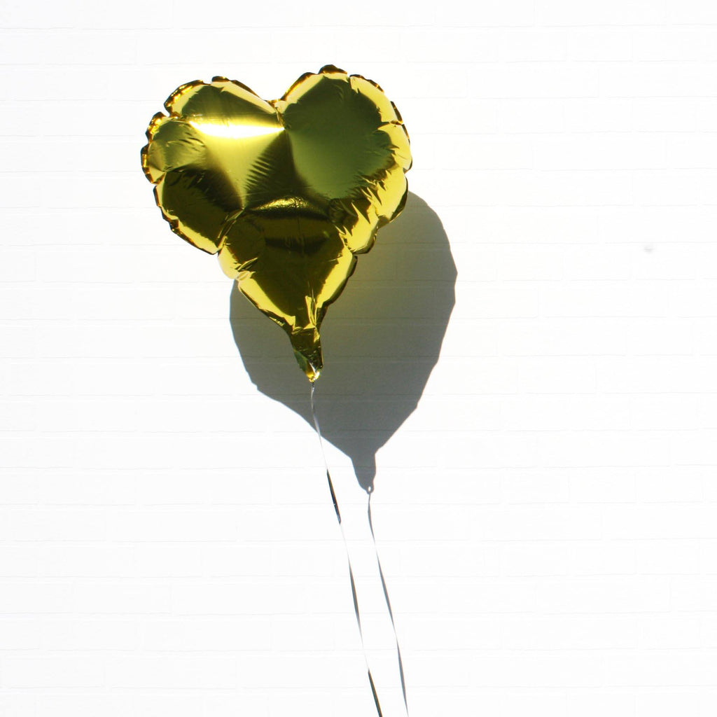 Gold Foil Heart Balloon from Lively & Co Party Supplies NZ