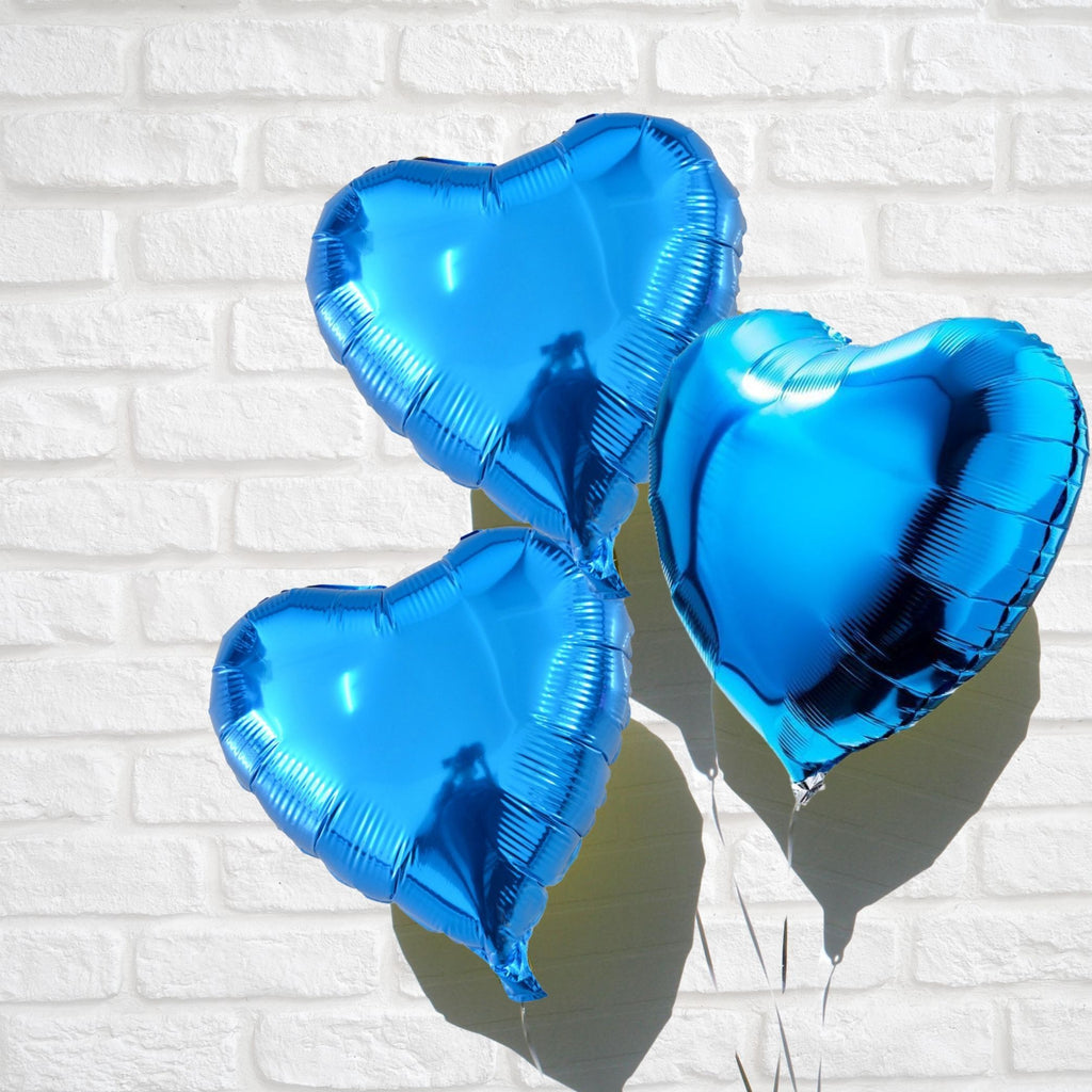 Heart Foil Balloon Deep Blue Lively & Co