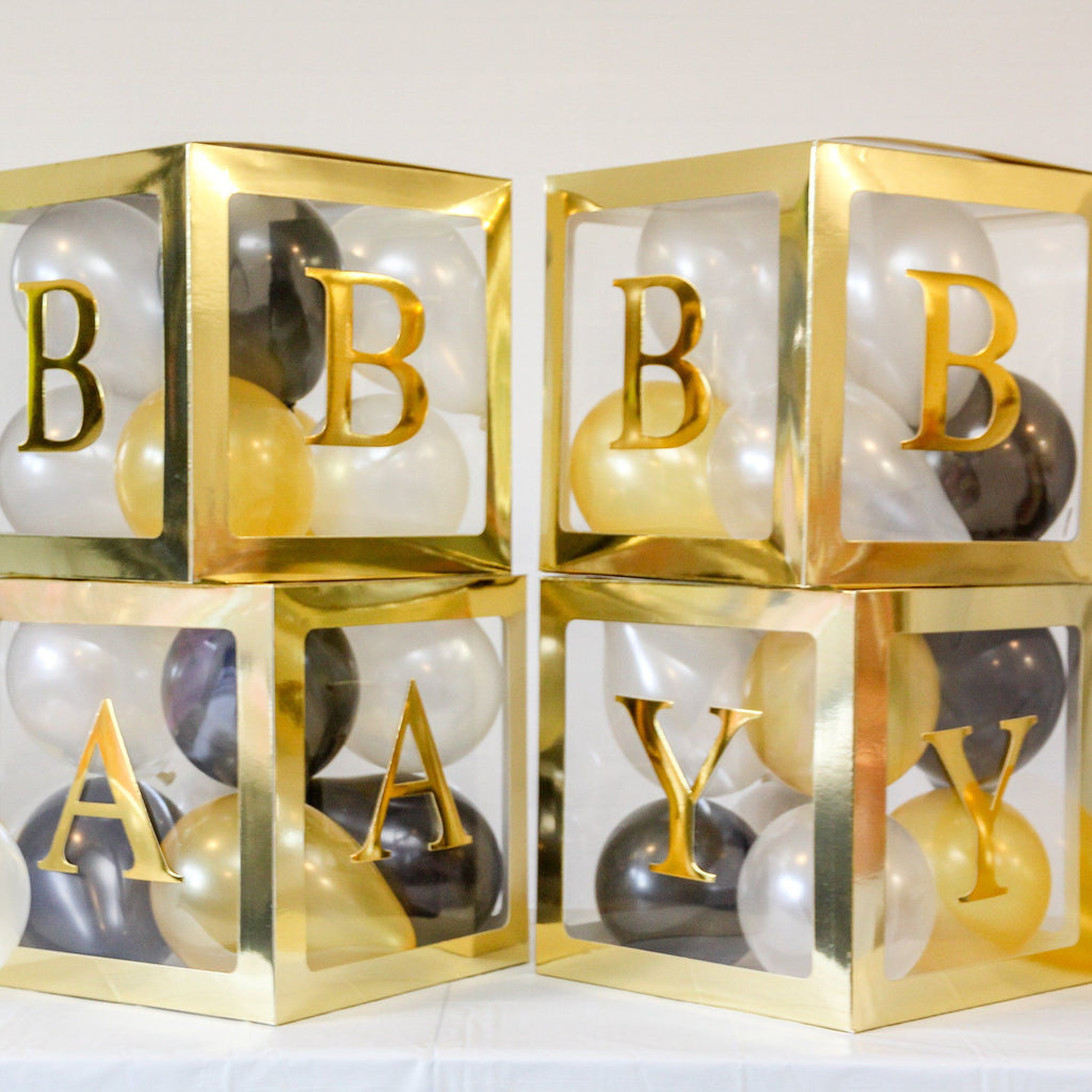 Baby Box BABY BABY BABY Letter Set GOLD