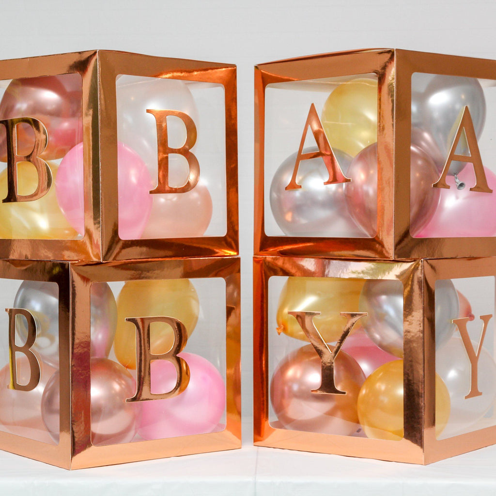 "Baby Box 5"" Balloon Set Rose Gold"