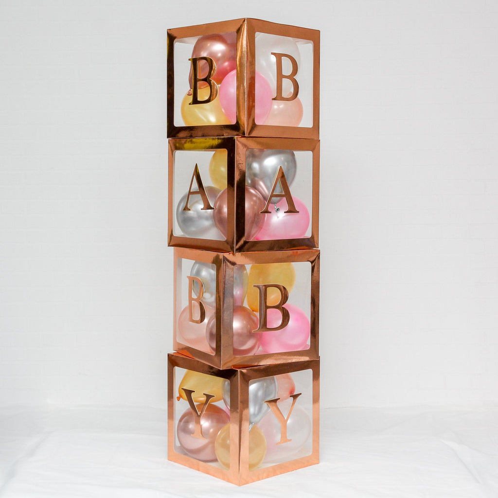 Baby Box BABY BABY BABY Letter Set ROSE GOLD