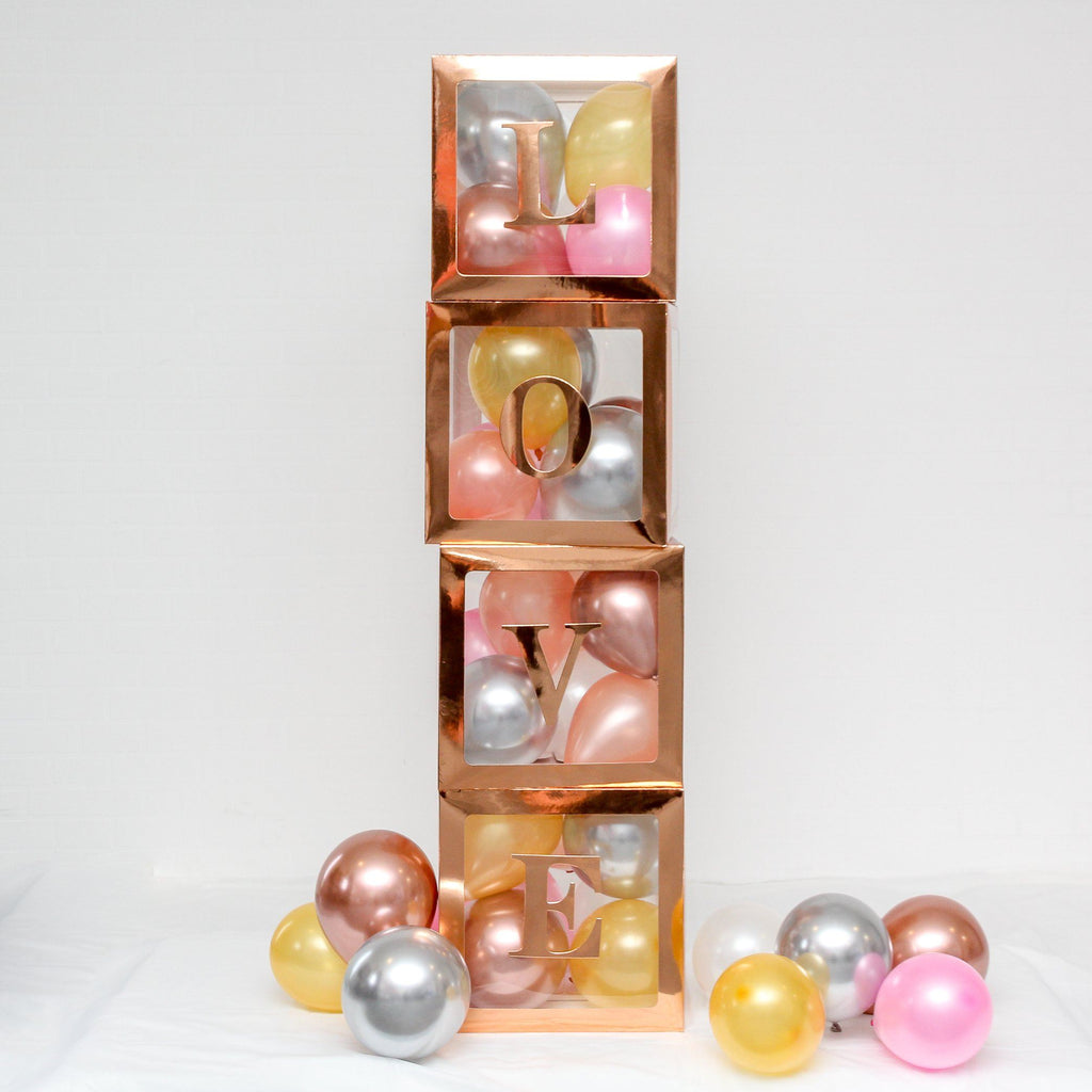 A-Z Alphabet Balloon Box Pack Rose Gold Lively & Co