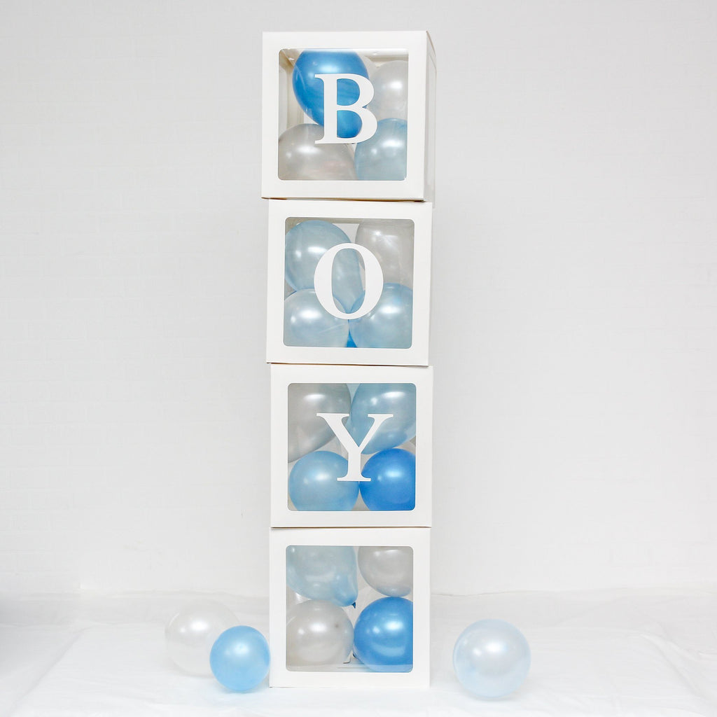 A-Z Alphabet Balloon Box Pack White Lively & Co