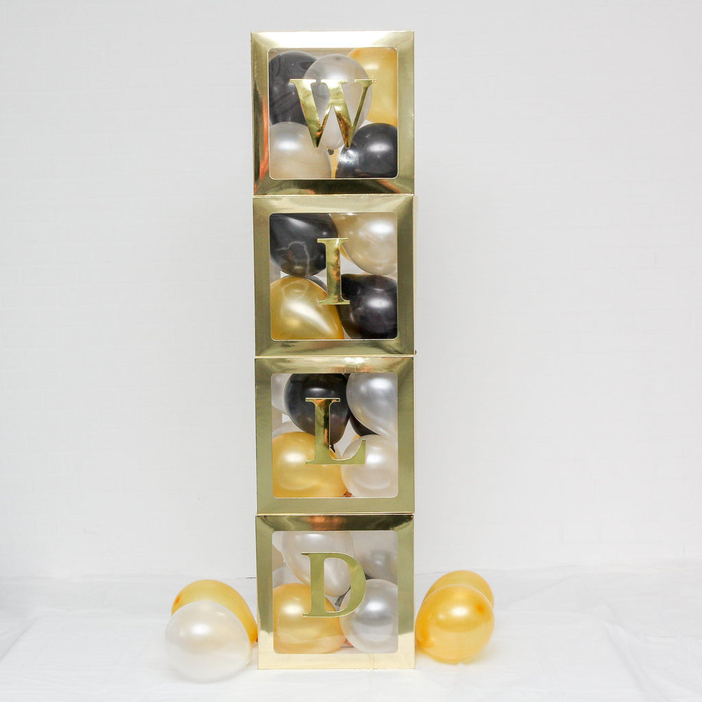 A-Z Alphabet Balloon Box Pack Gold Lively & Co