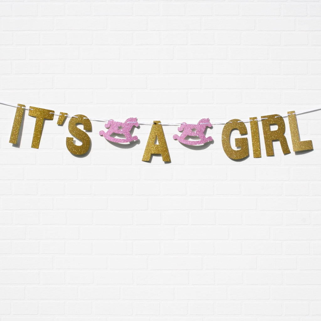 It's A Girl banner for A Baby Shower, Lively & Co