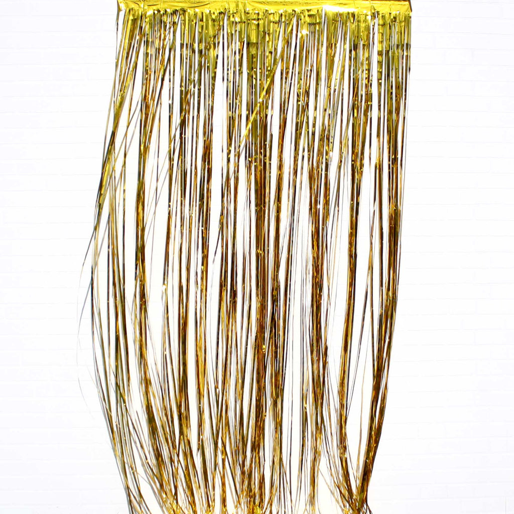 gold tassel curtain for party
