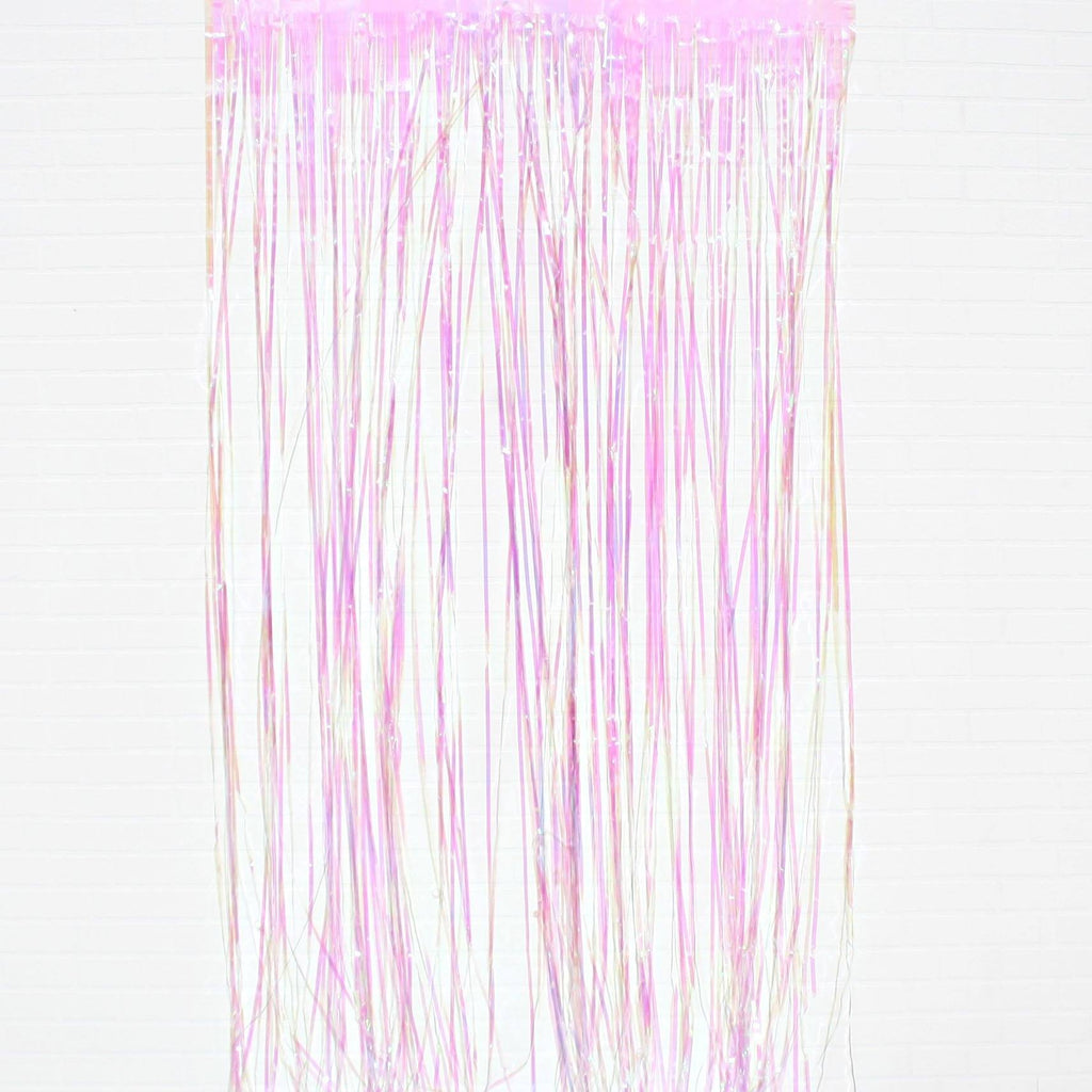 Tassel Curtain Holographic Pink