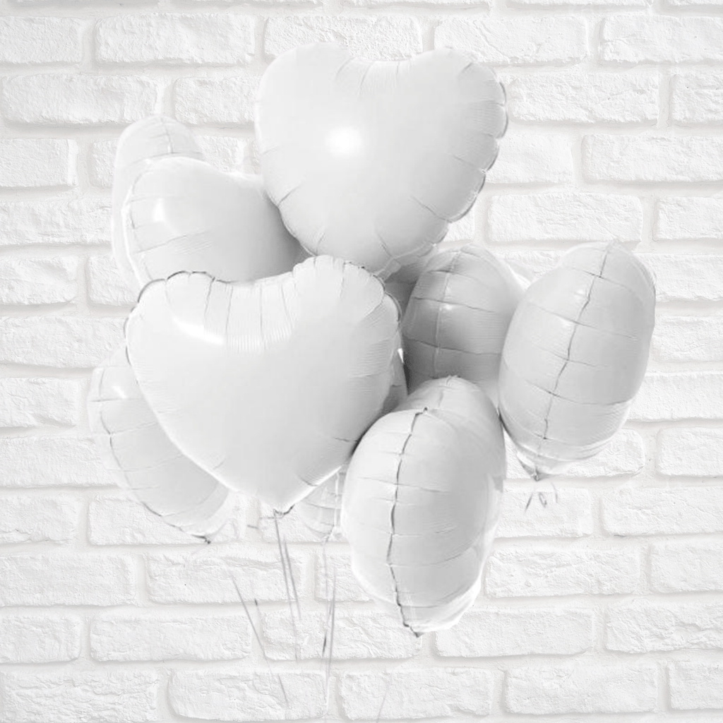 Heart Foil Balloon White NEW Lively & Co